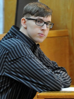 Blayne William Brooks sits in the 30th District Courtroom Wednesday morning. Brooks is on trial in the shooting death of Domanic Thrasher on June 2, 2015, near the intersection of Yuma and Gunnison streets in north Wichita Falls.