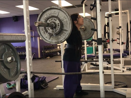 Irion County's Natali Dominguez defended her state title at the Texas High School Women's Powerlifting Association state championships in Waco this past weekend.