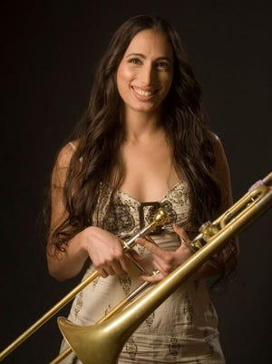 Rahway-based trombonist Reut Regey and her drummer husband, Igal Foni, will launch the Union County Performing Arts Center's Jazz Club series on Jan. 17.