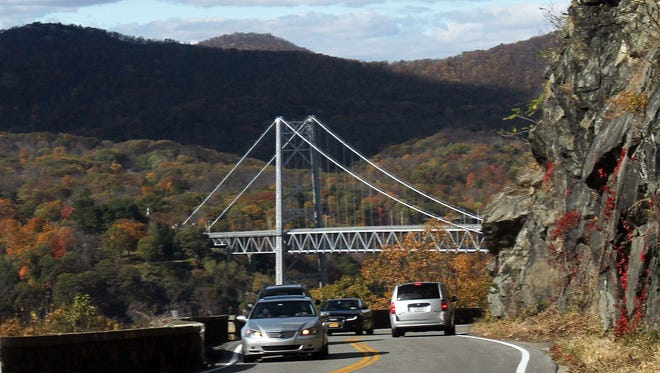 """Route 6 in Cortlandt between Routes 9 and 9D, the so-called """"goat trail,"""" has been closed by a downed tree."""