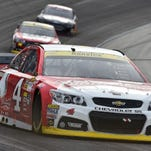Kevin Harvick drives during the AAA Texas 500 on Sunday. After the race, Harvick was involved in a brawl on pit road.