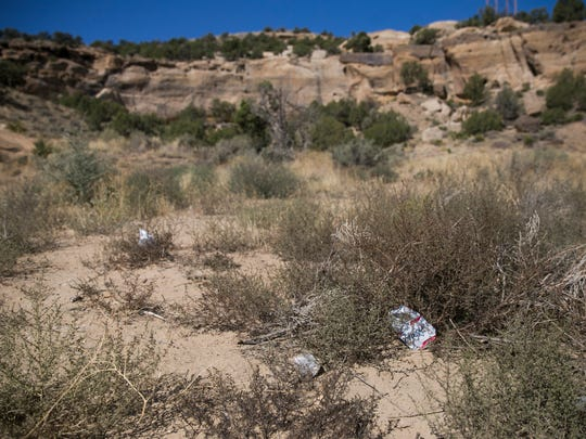 The Glade Run Recreation Area north of Farmington is often the site of illegal dumping, a spokesman for the local BLM field office says.