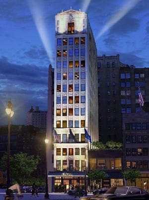 Rendering shows Detroit's Wurlitzer Building remade as a boutique hotel