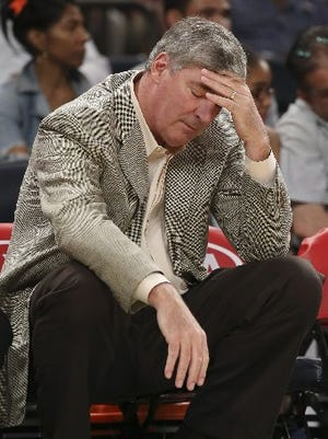 These days Bill Laimbeer brings his game face to the WNBA.