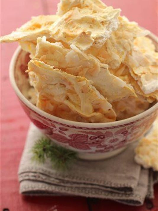 Coconut-Chai meringue breakaway