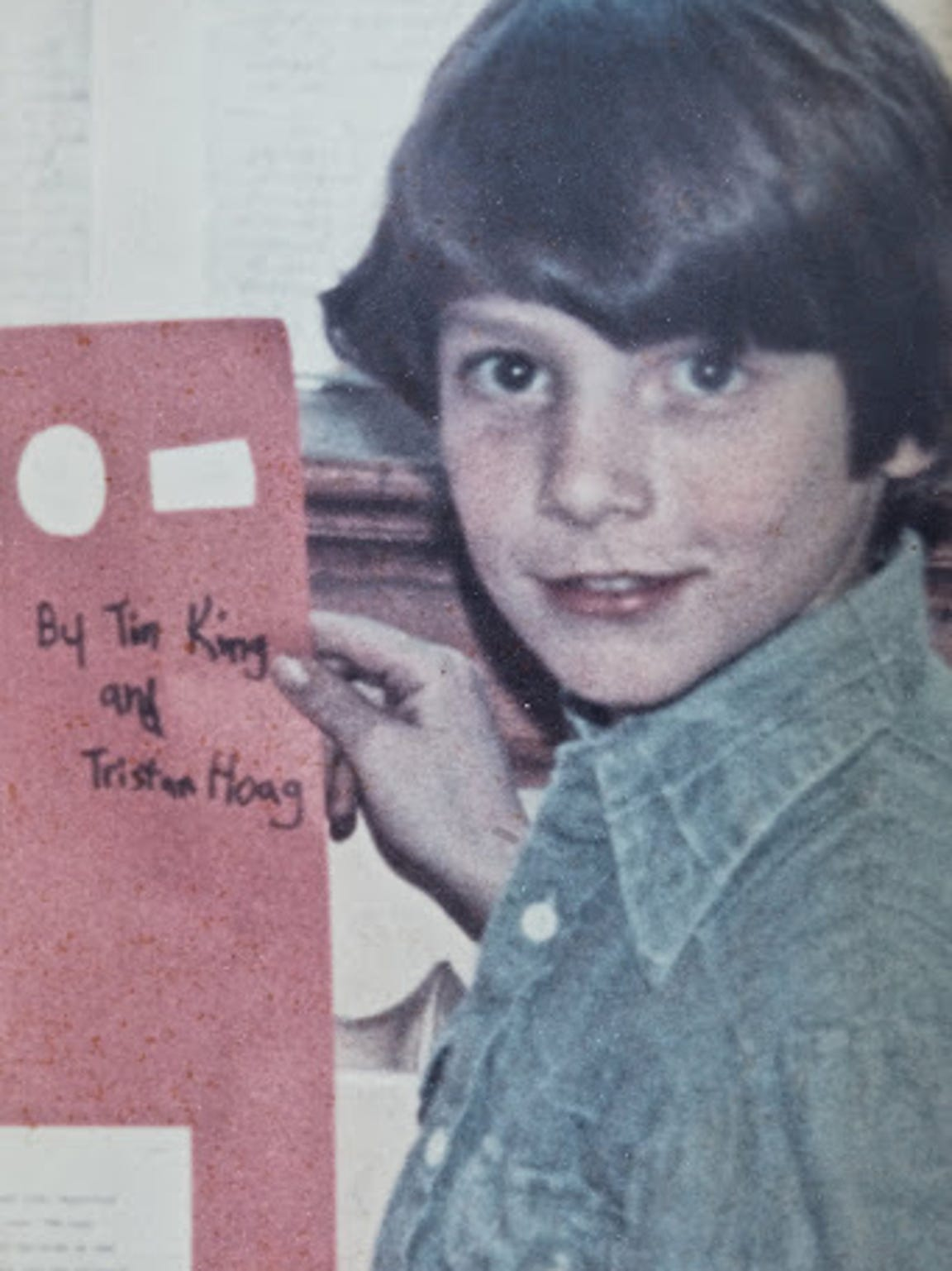 A photo taken of Tim King the day he was abducted.