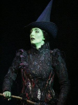 "Julia Murney as Elphaba in the musical ""Wicked,"" which played at the Masonic Temple Theatre in Detroit in 2006."