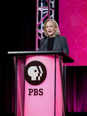 President and CEO Paula Kerger speaks at the PBS Executive Session at the 2017 Television Critics Association press tour on Sunday, Jan. 15, 2017, in Pasadena, Calif. (Photo by Willy Sanjuan/Invision/AP)