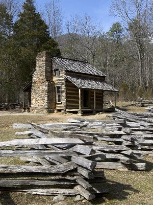 The John Oliver cabin is pictured in February 2009 at Cades Cove in the Great Smoky Mountains National Park.