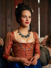 In this image released by Hulu, Jessica Brown-Findlay