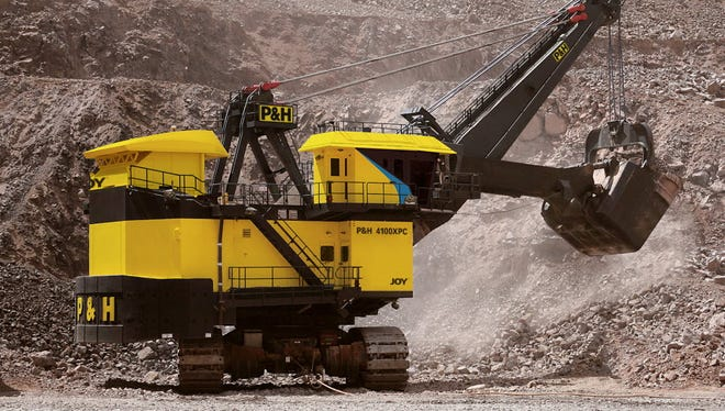 P&H mining shovels, made by Joy Global Inc. in Milwaukee, are used in many places including the oil sands region in Alberta, Canada. The oil sands potential could not be realized without the behemoth shovels that can lift more than 100 tons in a single scoop.