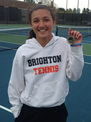 Brighton's one-singles player Maria Raneses is the Livingston Daily's Girls Tennis Player of the Year.
