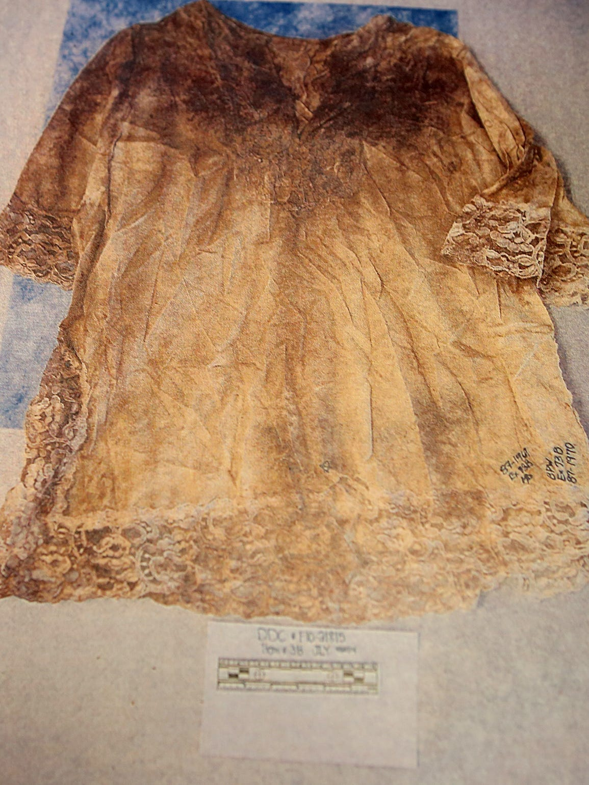 The nightgown Retha Welch wore when she was beaten