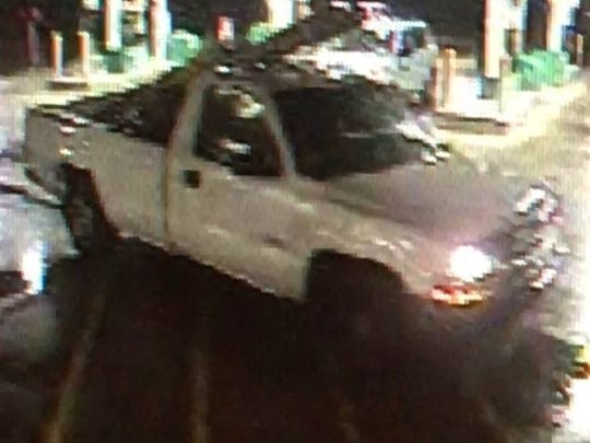A suspect in an armed robbery at a Etna area gas station is believed to have fled the area in this truck.