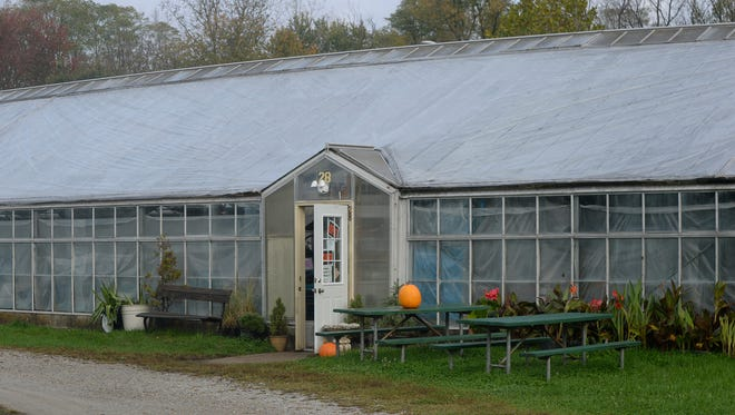 The entrance to the Richmond parks department's main greenhouse on Waterfall Road.