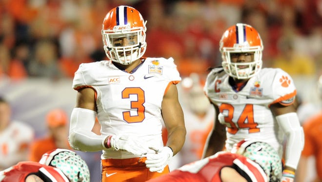 Clemson defensive end Vic Beasley (3) is a cog in the ACC's best and deepest defensive line group.