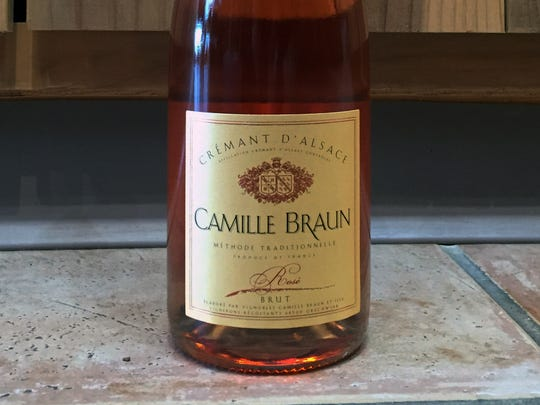 Camille Braun Brut Rose, available at Cork & Cracker