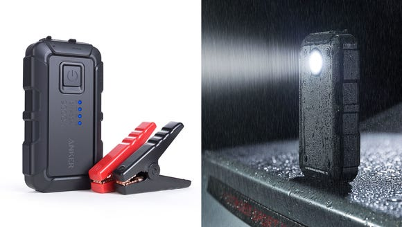 With a flashlight and two USB ports, this jump starter