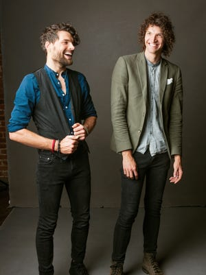 Brothers Joel Smallbone (left) and Luke Smallbone make up the Christian pop duo For King & Country.