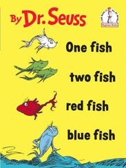 Book jacket for 'One Fish Two Fish Red Fish Blue Fish'