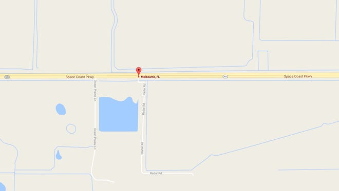 Two people were injured in a crash near the intersection of Radar Road and State Road 192 in Melbourne early Sunday.