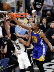 Kevin Durant is the natural matchup by position to guard Lebron James and has length and speed to try to bother the four-time MVP. But the bulk of the task will likely fall to Draymond Green.