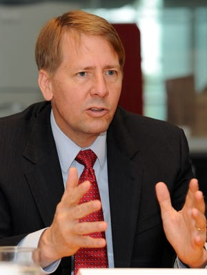 Richard Cordray, director of the Consumer Financial Protection Bureau, meets with USA TODAY's editorial board.