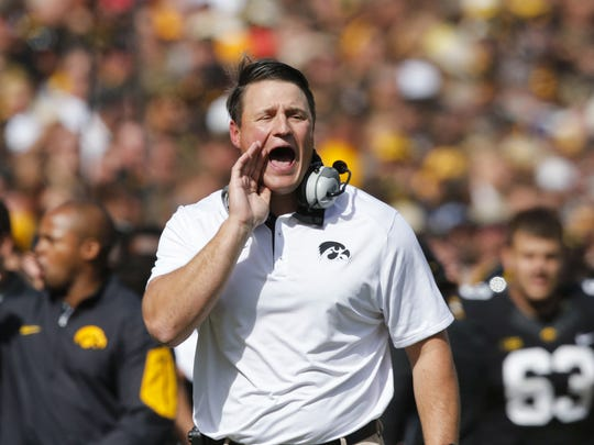 Iowa offensive line coach Brian Ferentz is a rising name in the coaching ranks.