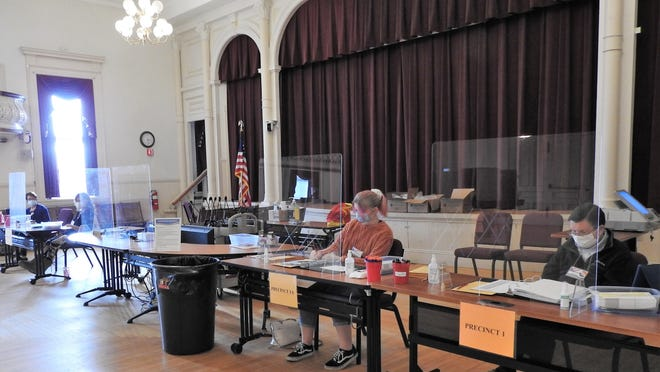 The second floor of Town Hall in Winchendon is open for early voting and is handicapped accessible. Voters are asked to wear a mask and follow social distancing protocol.