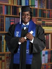 Yolanda Harraway graduated from the Monterey Adult School in May.