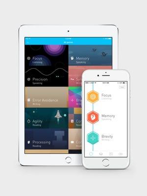 Elevate, the brain training app