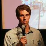 U.S. Rep. Beto O'Rourke discusses veteran issues at a previous town-hall meeting.