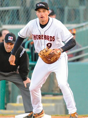 Trey Mancini spent 68 games with the Delmarva Shorebirds in 2014.