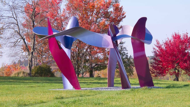 """The Gathering"" by David Stromeyer at Cold Hollow Sculpture Park in Enosburg Falls"