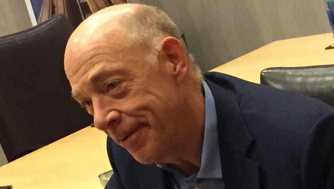 J.K. Simmons will throw out the first pitch at the Tigers home opener today at Comerica Park in Detroit.