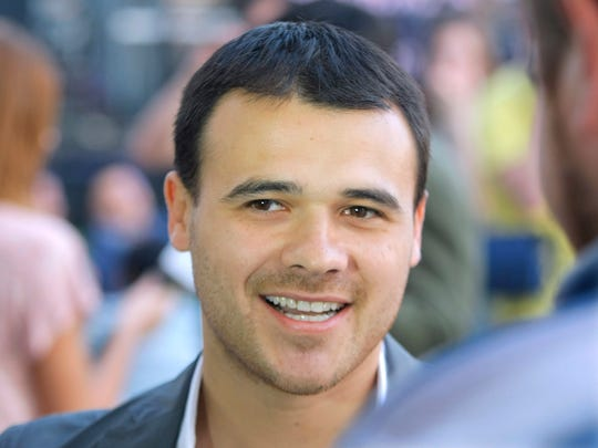 In this photo taken June 2, 2011, Emin Agalarov, son of Aras Agalarov, an ethnic Azerbaijani business leader living in Moscow, seen during a party in Moscow, Russia.