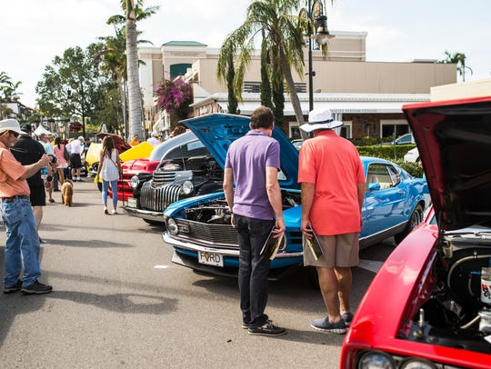 Scenes from the Cars on 5th car show in Naples, Fla.,