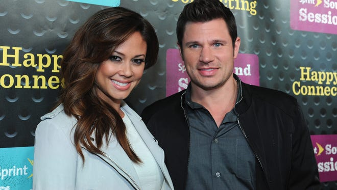 Vanessa Minnillo Lachey and Nick Lachey on April 29, 2014.