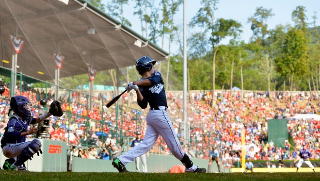 A bat used by Red Land's Cole Wagner during the Little League World Series will be auctioned for charity on Friday.