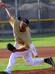 Rob Rizzitelli struck out a season-high nine batters in a 7-5 victory over the Alpine Cowboys on Saturday night.