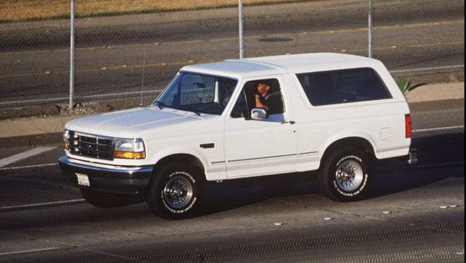 "The white Ford Bronco made famous by O.J. Simpson and Al Cowlings will be featured on ""Pawn Stars"" on Aug. 14."