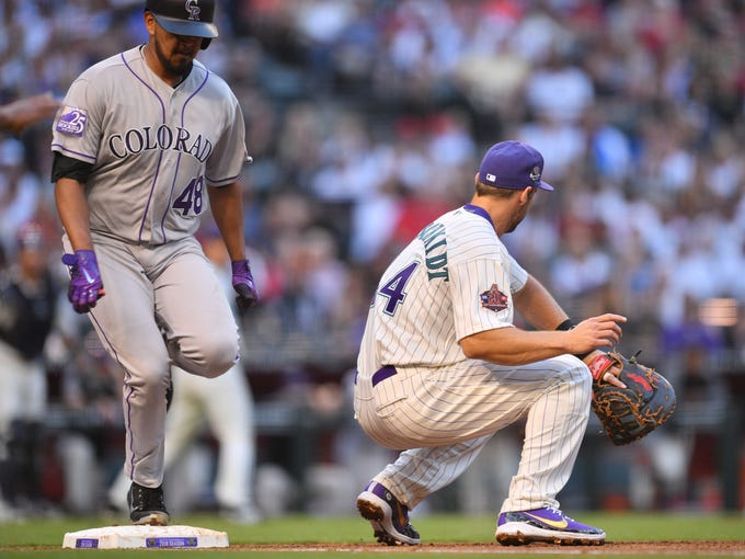 Mar 31, 2018; Phoenix, AZ, USA; Colorado Rockies starting