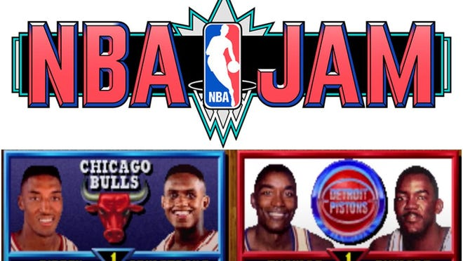 """A game designer on the popular 1990s sports video game """"NBA Jam"""" says he rigged the code to have the Chicago Bulls lose close games to the Detroit Pistons."""