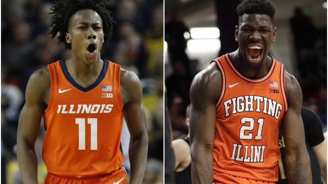 The Illinois men's basketball team got quite the boost this weekend when Ayo Dosunmu, left, and Kofi Cockburn both announced they would be returning to the Champaign school.