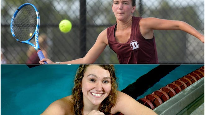 Dunlap tennis player Taylor Disharoon, above, and Taylor Weaver, bottom.