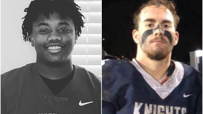 Dawson Hubbard, left, and Jaxon Cusac-McKay have transferred out of Illinois to play football in other states. Hubbard, formerly of Richwoods, plays in Arizona. Cusac-MacKay, who hopes to return to Illinois, is playing in Kentucky.