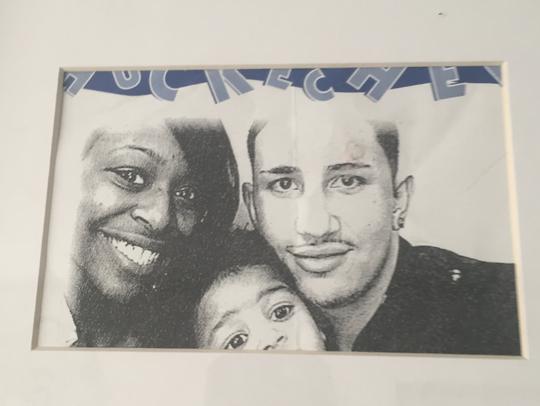 Joseph Wilson Jr., 29, with his longtime girlfriend,