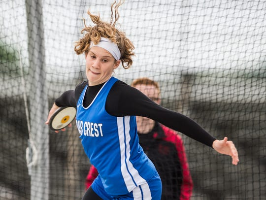 Cedar Crest's Hannah Woelfling  finished second in