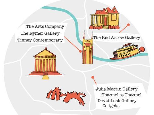 Nashville Gallery Map.