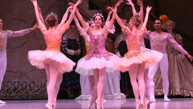 """Helen Daigle and Company and Louisville Ballet company dancers and cast of """"The Sleeping Beauty."""""""